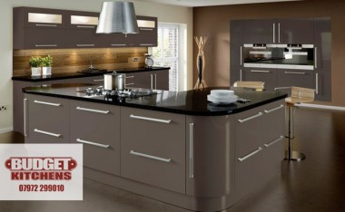 Lumi grey gloss kitchen from Budget Kitchens Leeds